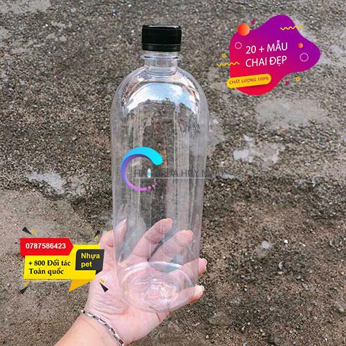 chai nhựa tròn 1 lít