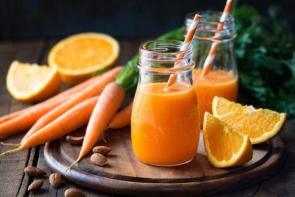 nước cà rốt táo và cam