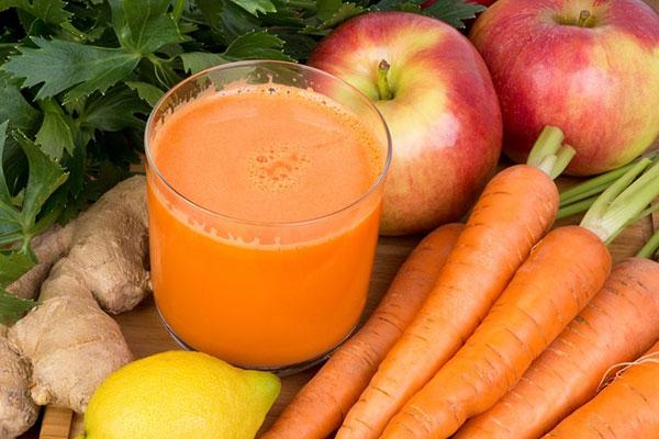 nước củ cải cà rốt và gừng