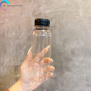 chai nhựa 330ml tròn miệng rộng chất lượng