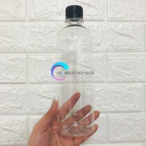 chai nhựa 500ml tròn cao
